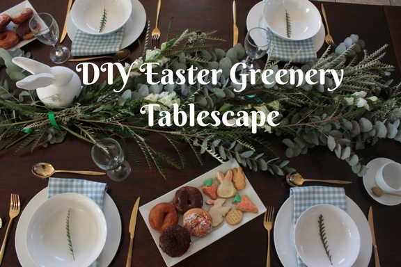 DIY Easter Greenery Tablescape